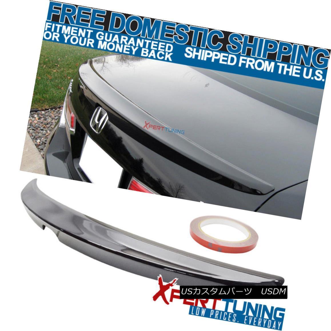 エアロパーツ Fit For 08-12 Accord 4Dr Trunk Spoiler Painted # NH731P Crystal Black Pearl 08-12アコード4Drトランク・スポイラー塗装#NH731Pクリスタル・ブラック・パール