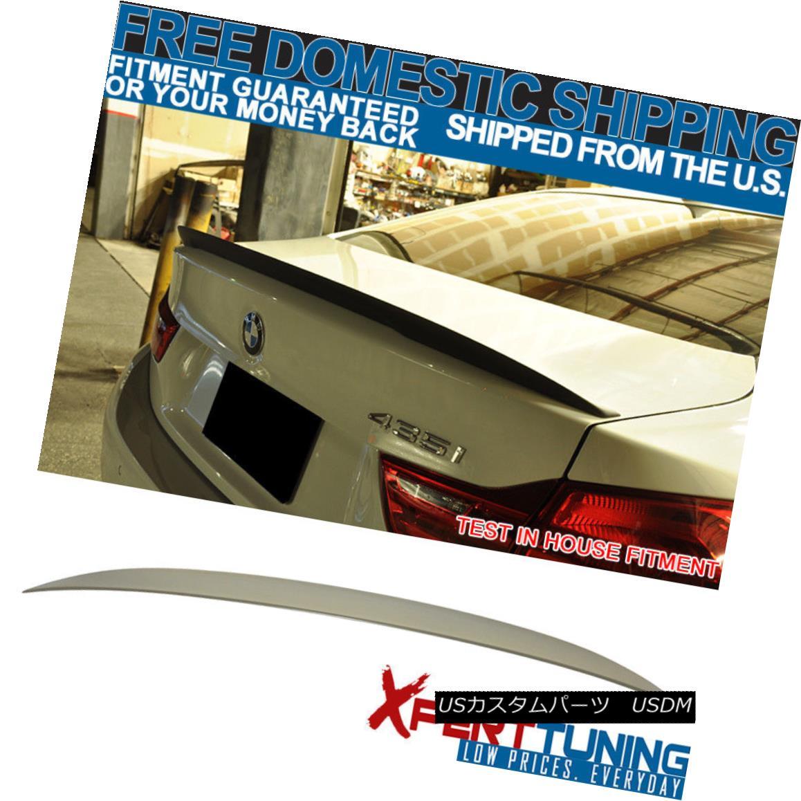 エアロパーツ 14-17 BMW F32 4-Series P Style Rear Trunk Spoiler Wing Deck Boot Unpainted ABS 14-17 BMW F32 4シリーズPスタイルリアトランク・スポイラーウイング・デッキ・ブーツ未塗装ABS
