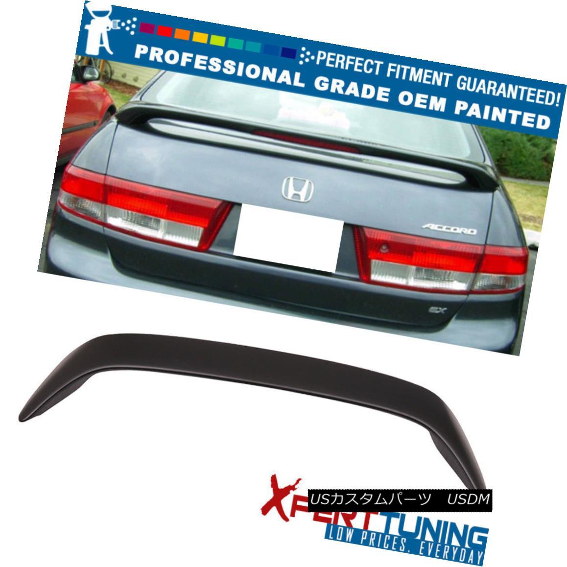 エアロパーツ Fit For 03-05 Honda Accord 4Dr 3rd Brake LED Brake OE ABS Trunk Spoiler フィット03-05ホンダアコード4Dr第3ブレーキLEDブレーキOE ABSトランク・スポイラー