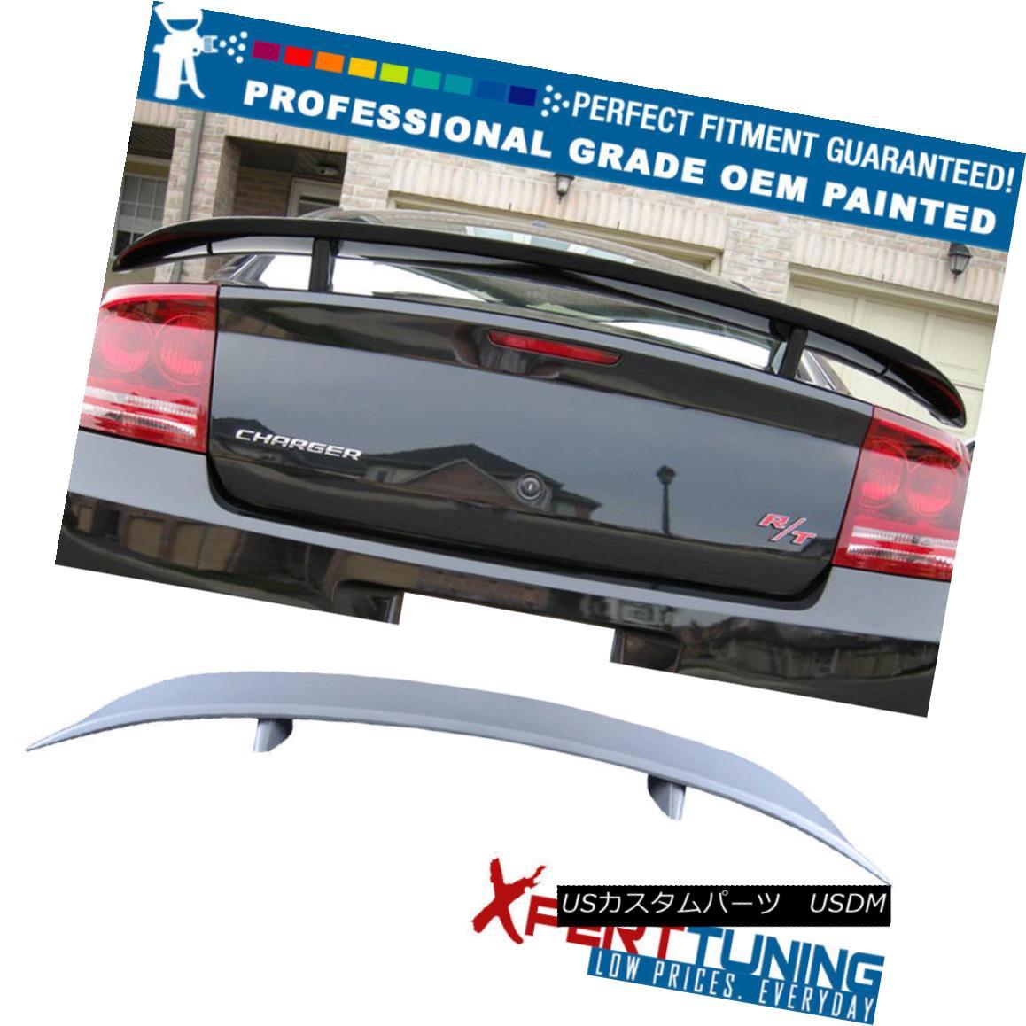 エアロパーツ Fits 06 07 08 09 10 Dodge Charger Painted ABS Trunk Spoiler - OEM Painted Color フィット06 07 08 09 10塗装ABSトランク・スポイラー - OEM塗装カラードッジ・チャージャー