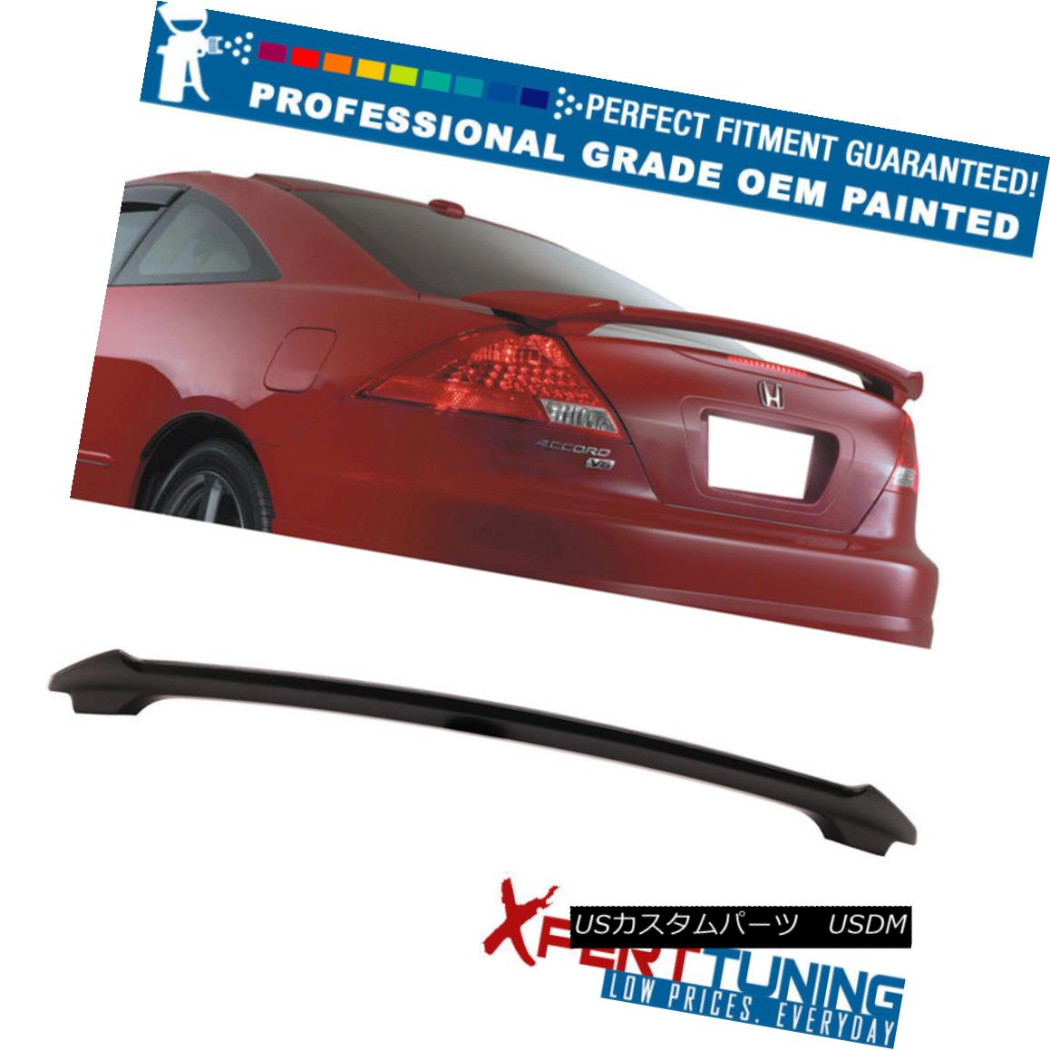エアロパーツ Fits 06-07 Honda Accord Coupe OE Style ABS Trunk Spoiler - OEM Painted Color フィット06-07ホンダアコードクーペOEスタイルABSトランクスポイラー - OEM塗装カラー