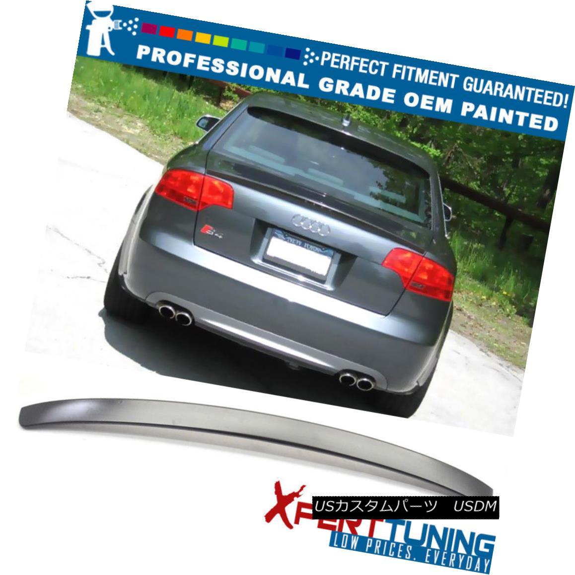 エアロパーツ 09-14 Audi A4 Quattro B8 4Dr Painted Rear Roof Spoiler - OEM Painted Color 09-14アウディA4クワトロB8 4Dr塗装リアルーフスポイラー - OEM塗装カラー