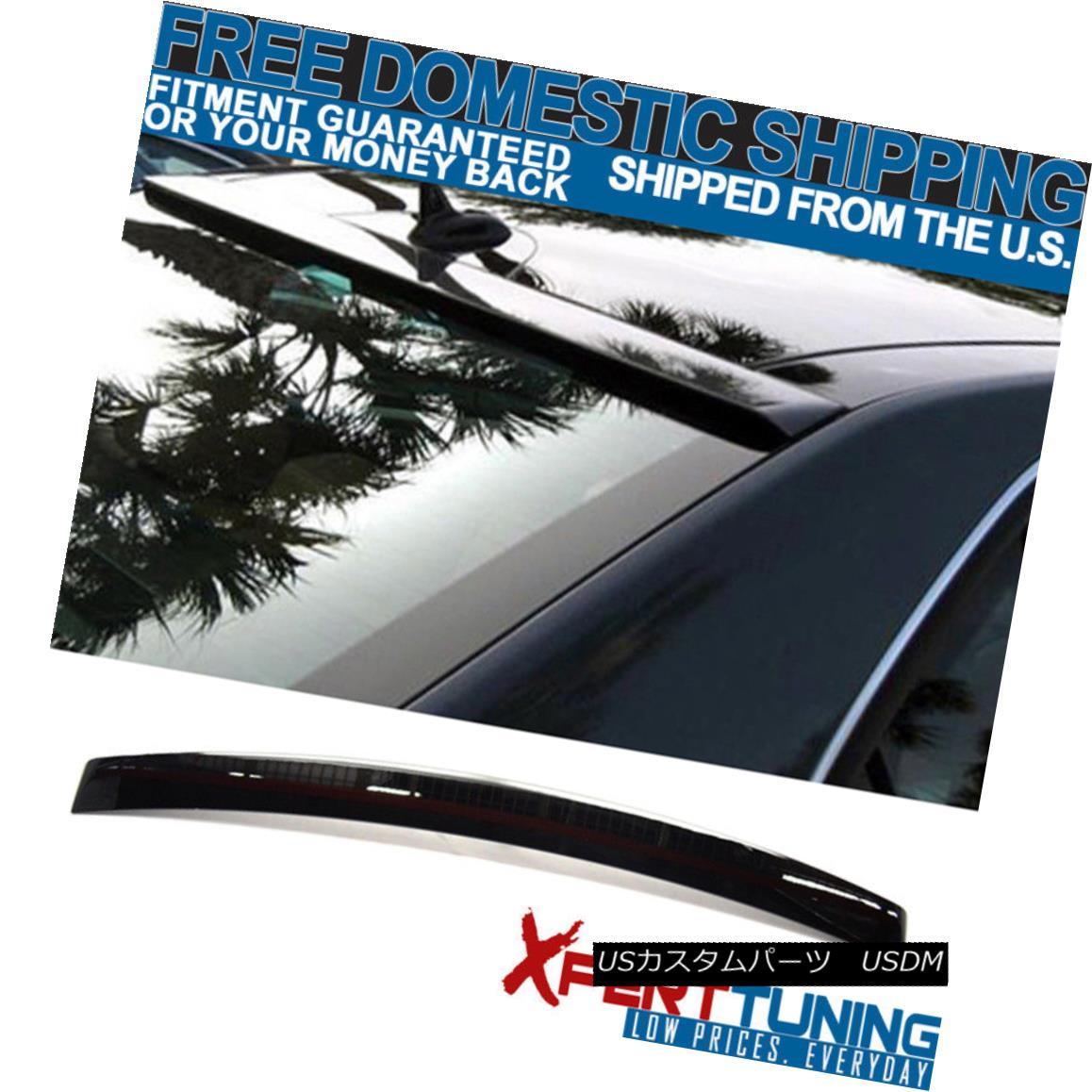エアロパーツ Fit For 10-16 Benz E-Class W212 OE Style #040 Black Painted Roof Spoiler フィット10-16ベンツEクラスW212 OEスタイル#040黒塗装ルーフスポイラー
