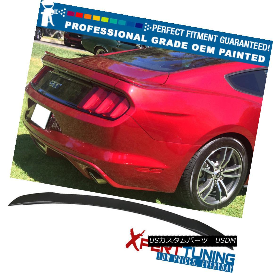 エアロパーツ 15-18 Ford Mustang GT Factory Painted ABS Trunk Spoiler - OEM Painted Color 15-18フォードマスタングGT工場塗装ABSトランクスポイラー - OEM塗装色