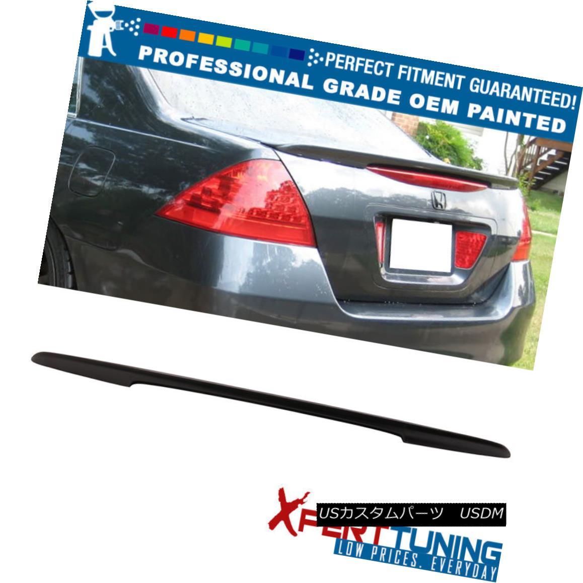 エアロパーツ Fits 06-07 Honda Accord Sedan OE Style ABS Trunk Spoiler - OEM Painted Color フィット06-07ホンダアコードセダンOEスタイルABSトランクスポイラー - OEM塗装カラー