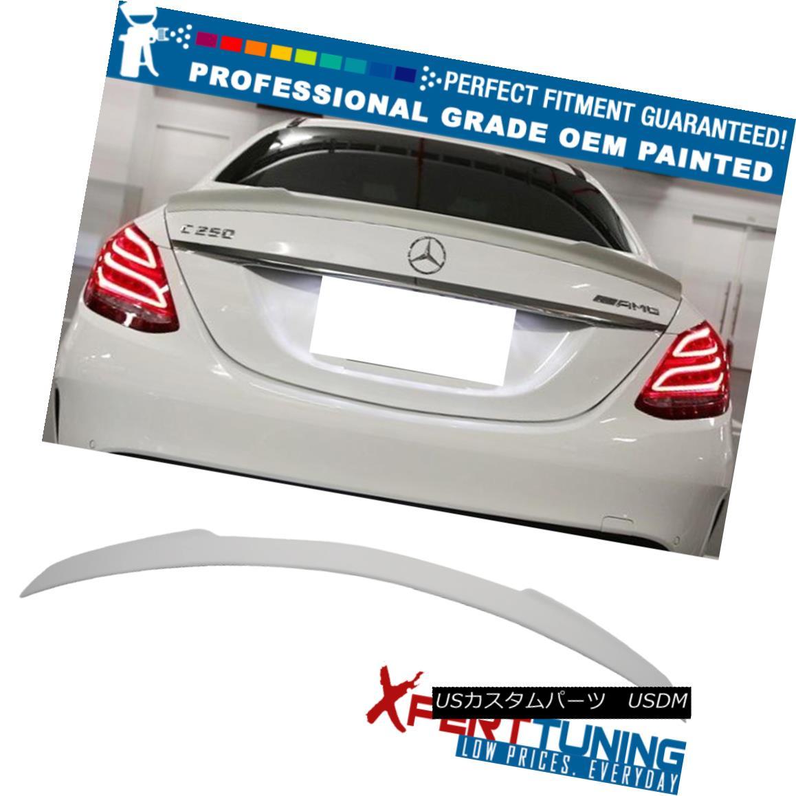エアロパーツ 15-17 Benz C Class W205 V Type Painted Trunk Spoiler FRP - OEM Painted Color 15-17ベンツCクラスW205 V型塗装トランク・スポイラーFRP - OEM塗装色