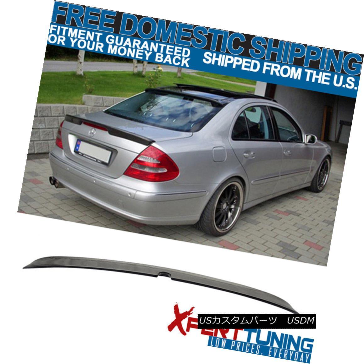 エアロパーツ 03-05 Benz E-Class W211 4Dr L #040 Black Painted Roof Spoiler 03-05ベンツEクラスW211 4Dr L#040黒塗装ルーフスポイラー