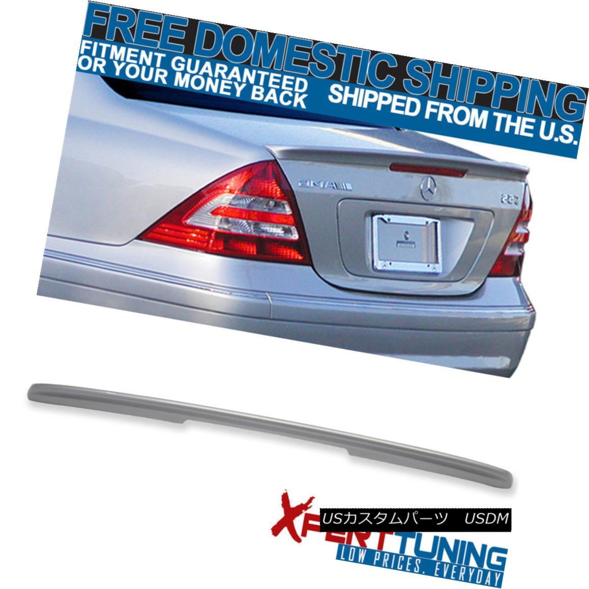 エアロパーツ 01 02 03 04 05 06 07 Benz C-class W203 4Dr AMG Painted #744 775 Trunk Spoiler 01 02 03 04 05 06 07ベンツCクラスW203 4Dr AMG塗装#744 775トランク・スポイラー