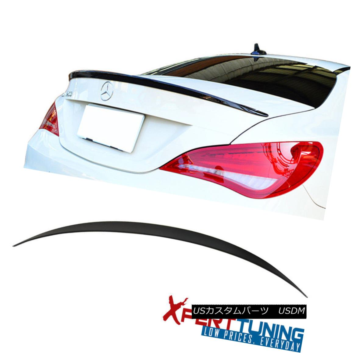 Fits 01-07 C Class W203 4Dr AMG Trunk Spoiler+L Type Roof Spoiler Unpainted ABS