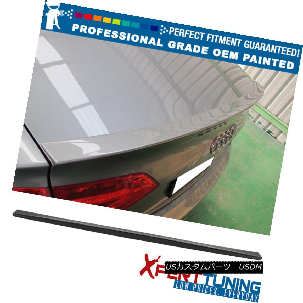 エアロパーツ 09-14 Audi A4 Quattro B8 4Dr DS Painted ABS Trunk Spoiler - OEM Painted Color 09-14アウディA4クワトロB8 4Dr DS塗装ABSトランク・スポイラー - OEM塗装カラー
