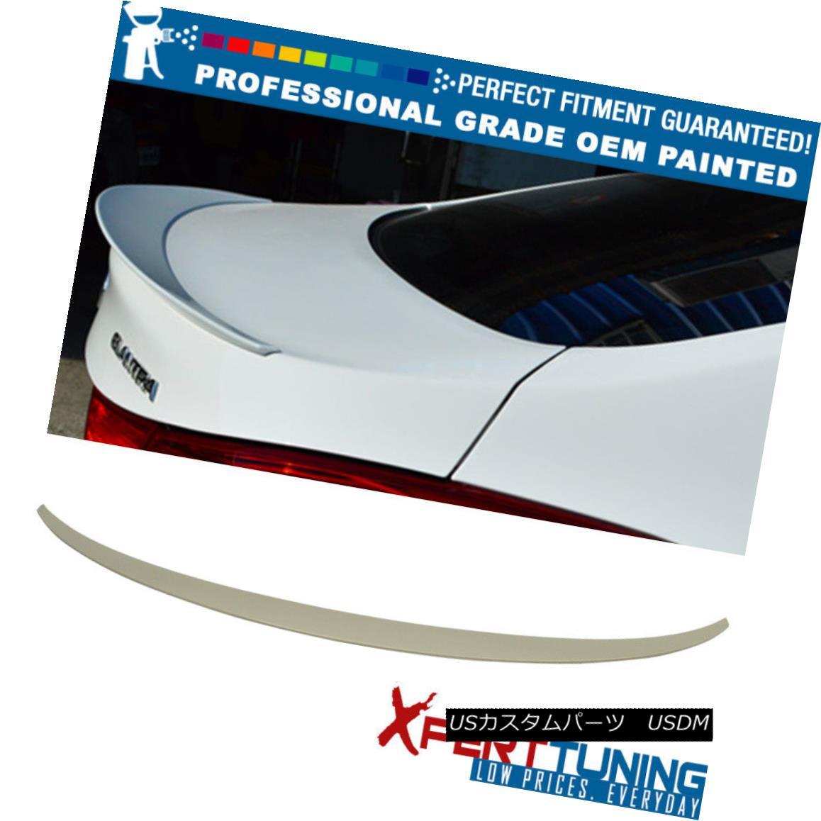 エアロパーツ Fits 10-15 Elantra 4Dr Painted OE Style Trunk Spoiler - OEM Painted Color フィット10~15 Elantra 4Dr塗装OEスタイルのトランク・スポイラー - OEM塗装色