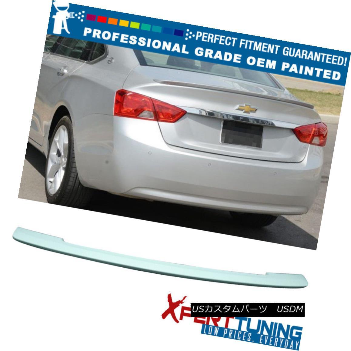 エアロパーツ Fits 14-18 Chevy Impala 4Dr 10th Gen OE Style Trunk Spoiler - OEM Painted Color フィット14-18シボレーインパラ4Dr第10世代OEスタイルのトランク・スポイラー - OEM塗装カラー