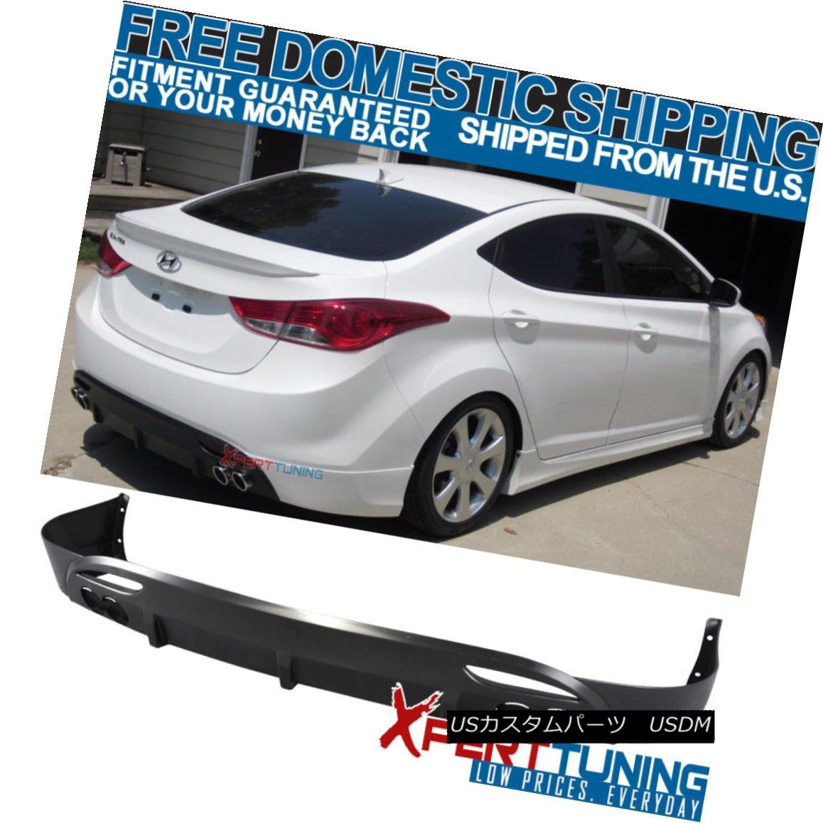 エアロパーツ Fit For 11 12 13 Hyundai Elantra Avante Md OE PP Lower Rear Bumper Lip Diffuser 11 12 13 Hyundai Elantra Avante Md OE PPロワーリアバンパーリップディフューザー