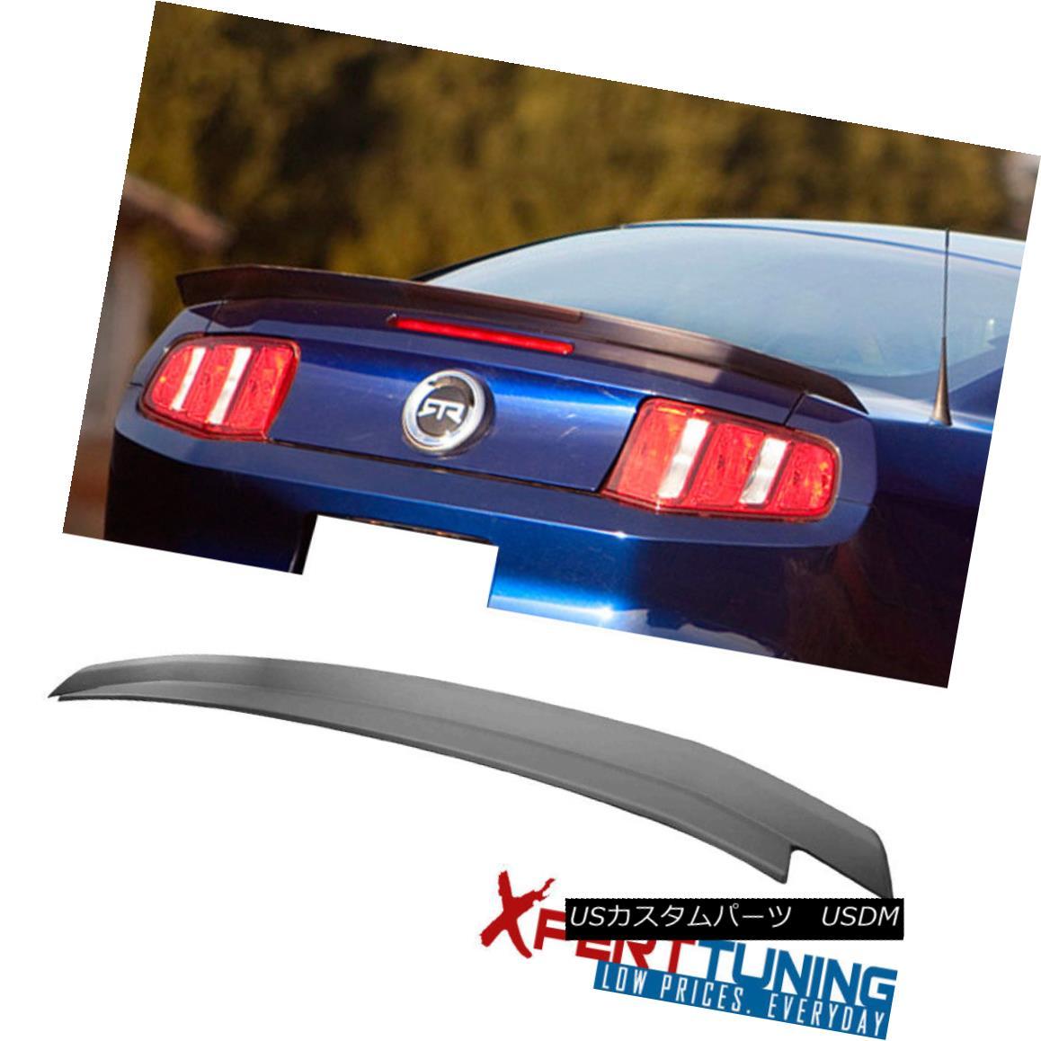 エアロパーツ Fit For 2010-2014 Ford Mustang Trunk Spoiler Lid Painted Matte Black 2010-2014 Ford Mustangトランク・スポイラー・リッド・ペイント・マット・ブラック