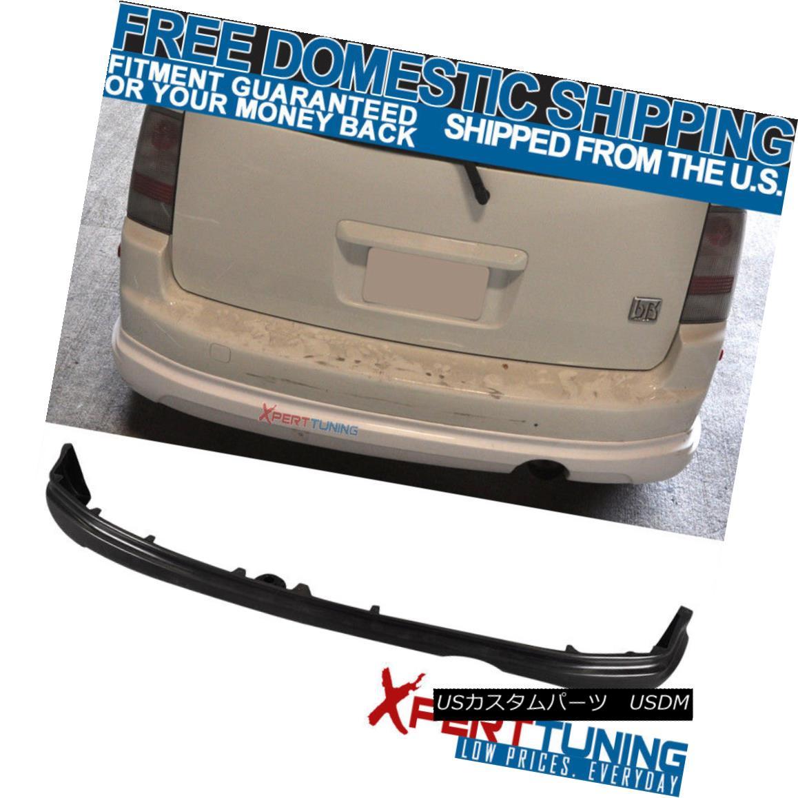 エアロパーツ Unpainted For 2003-2007 Scion xB Wagon 5Dr Rear Bumper Lip Spoiler PU 未塗装の2003-2007シオンxBワゴン5DrリアバンパーリップスポイラーPU