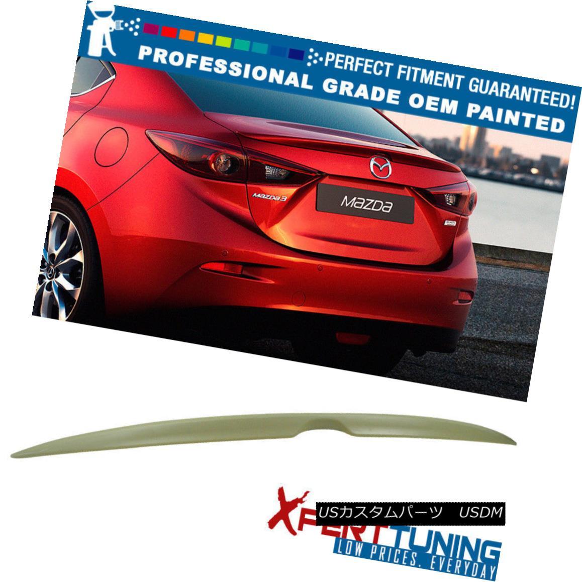 エアロパーツ 14-16 Mazda 3 Mazda3 Sedan OE Style Painted Trunk Spoiler - OEM Painted Color 14-16マツダ3 Mazda3セダンOEスタイル塗装トランクスポイラー - OEM塗装カラー