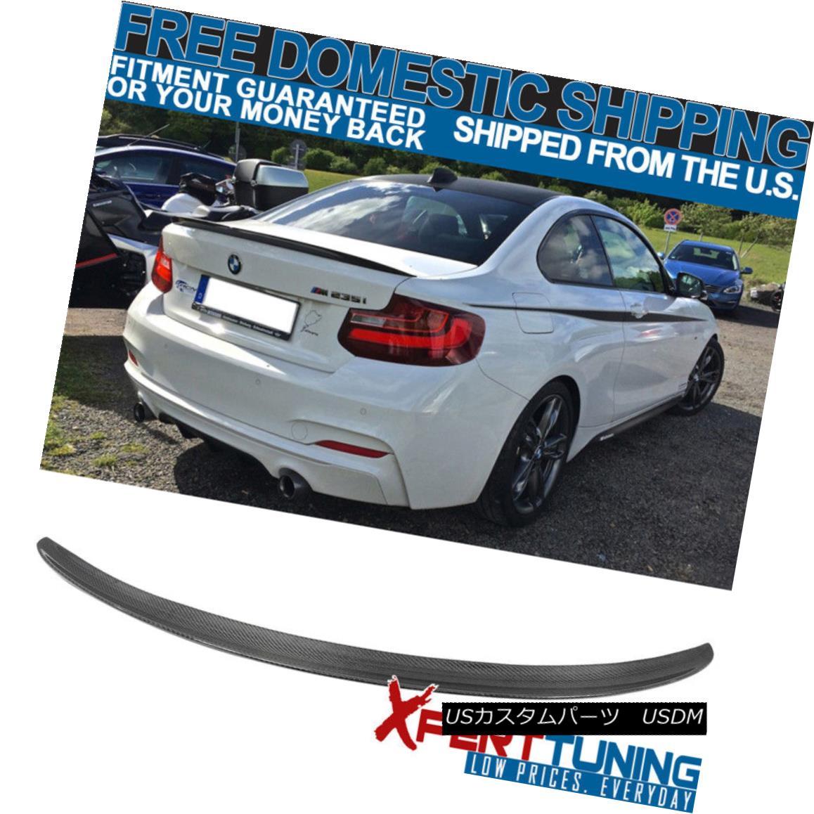 エアロパーツ 14-18 BMW 2 Series F22P Style Trunk Spoiler - Carbon Fiber CF 14-18 BMW 2シリーズF22Pスタイルトランク・スポイラー - カーボンファイバーCF