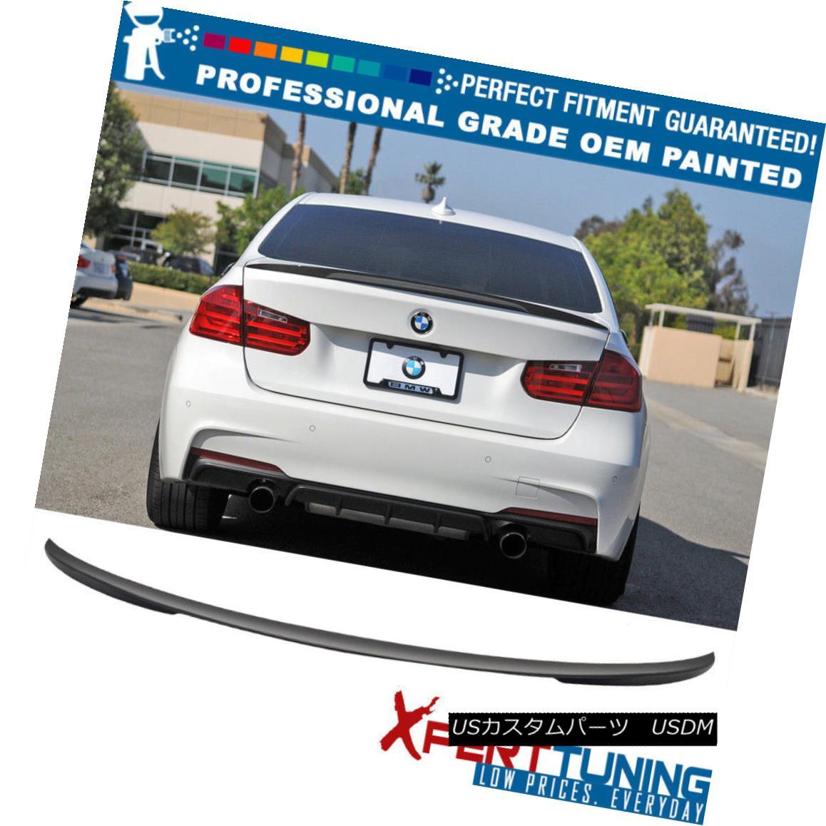 エアロパーツ 12-18 BMW 3-Series F30 4Dr 4Door P Painted Trunk Spoiler - OEM Painted Color 12-18 BMW 3シリーズF30 4Dr 4Door P塗装トランク・スポイラー - OEM塗装色