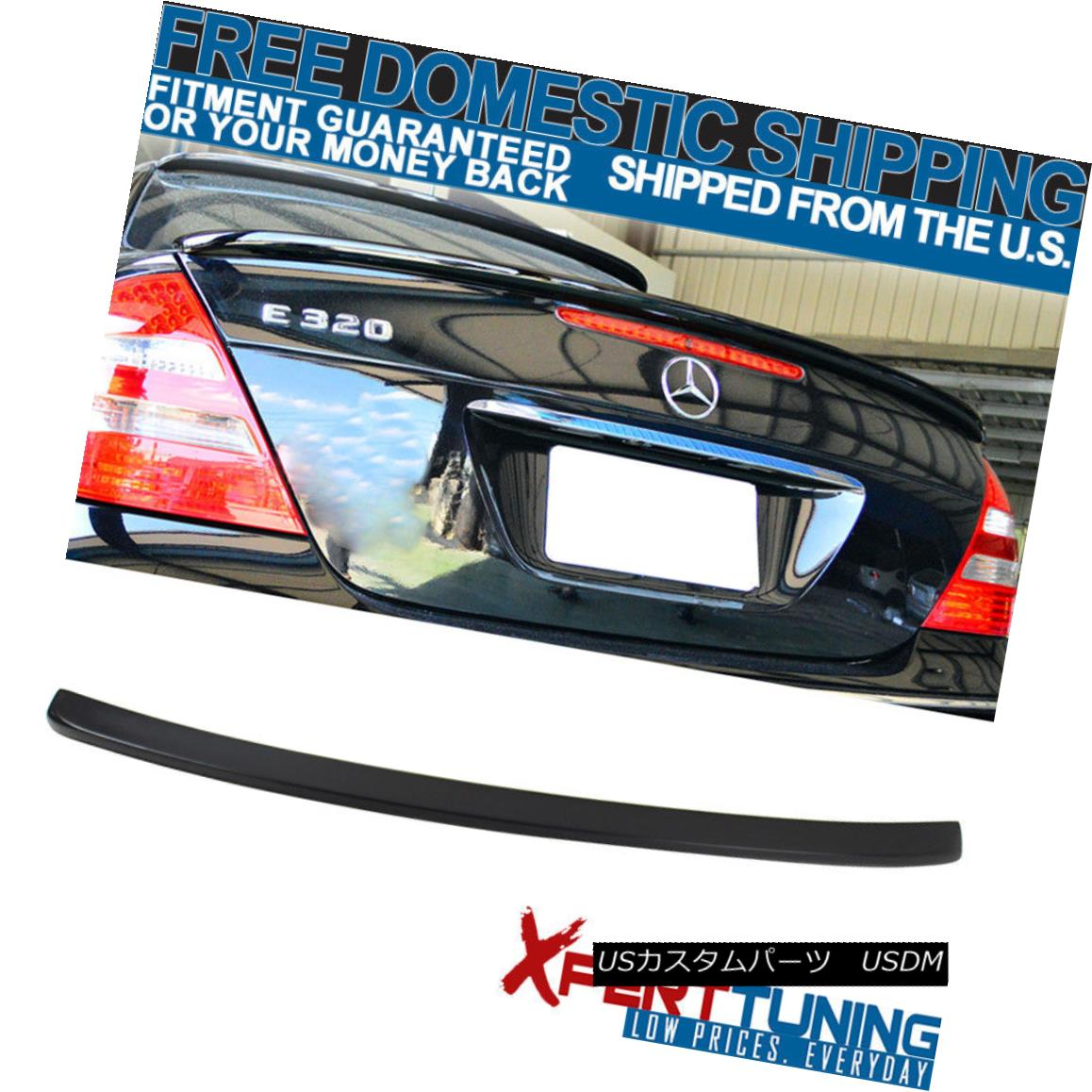 エアロパーツ Fit For 03-09 Mercedes-Benz E-Class W211 4Dr L Style Unpainted ABS Trunk Spoiler 03-09 Mercedes-Benz EクラスW211 4Dr Lスタイル未塗装ABSトランク・スポイラー