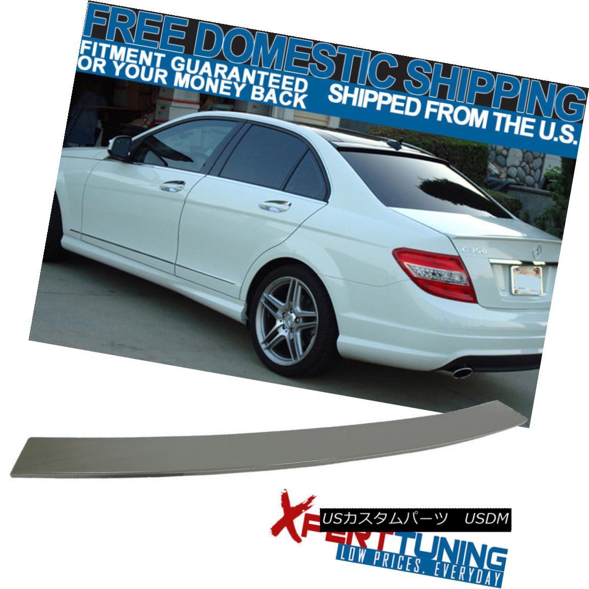 エアロパーツ 08-14 Benz C-Class W204 4Dr OE Style Unpainted ABS Roof Spoiler Wing 08-14ベンツCクラスW204 4Dr OEスタイル無塗装ABSルーフスポイラーウイング