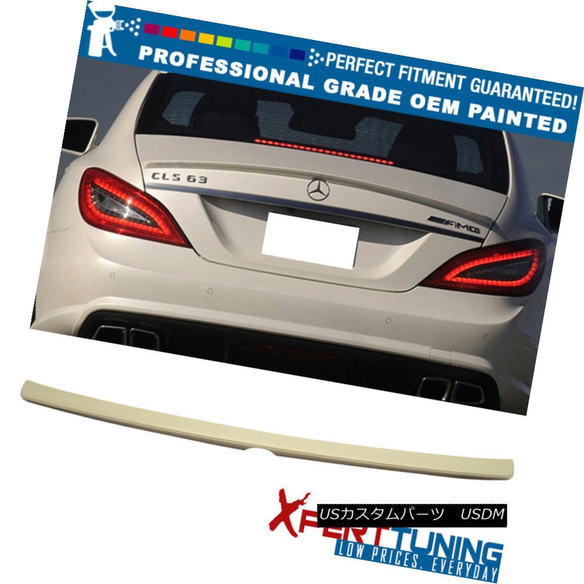 エアロパーツ 11-17 Benz CLS-Class W218 4Dr AMG Painted Trunk Spoiler - OEM Painted Color 11-17ベンツCLSクラスW218 4Dr AMG塗装トランク・スポイラー - OEM塗装カラー