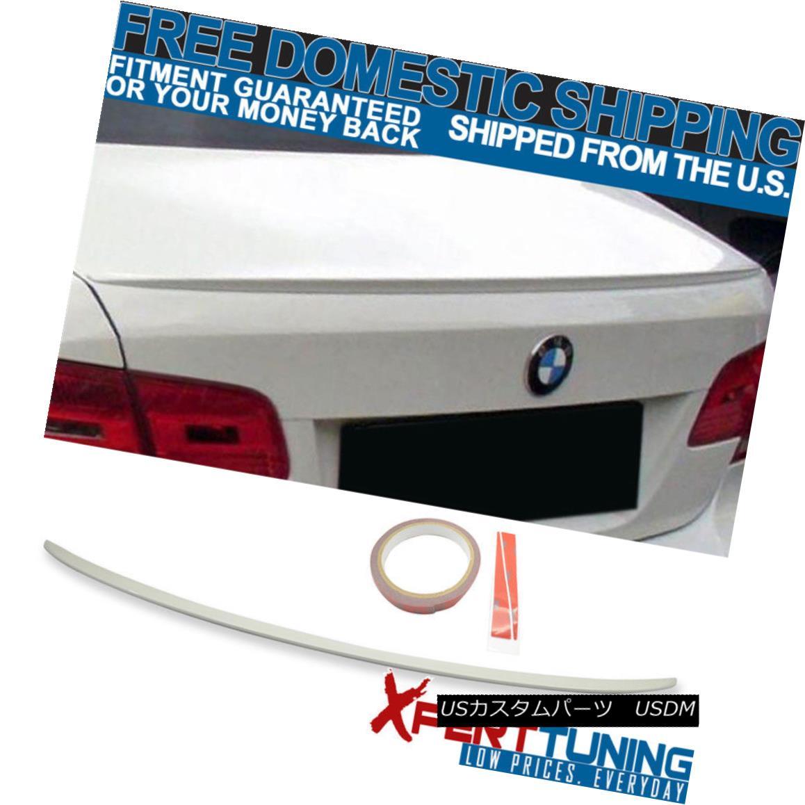 エアロパーツ 07-13 BMW 3 Series E92 M3 Style Painted # 300 Alpine White Trunk Spoiler 07-13 BMW 3シリーズE92 M3スタイル塗装#300アルパインホワイトトランク・スポイラー