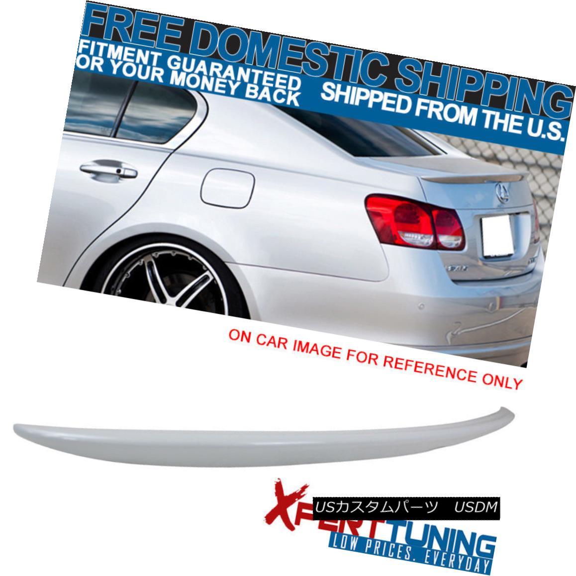 エアロパーツ Open Box Fit 06-12 Lexus GS350 OE Painted Trunk Spoiler #062 Crystal White Pearl オープンボックスフィット06-12レクサスGS350 OE塗装トランクスポイラー#062クリスタルホワイトパール