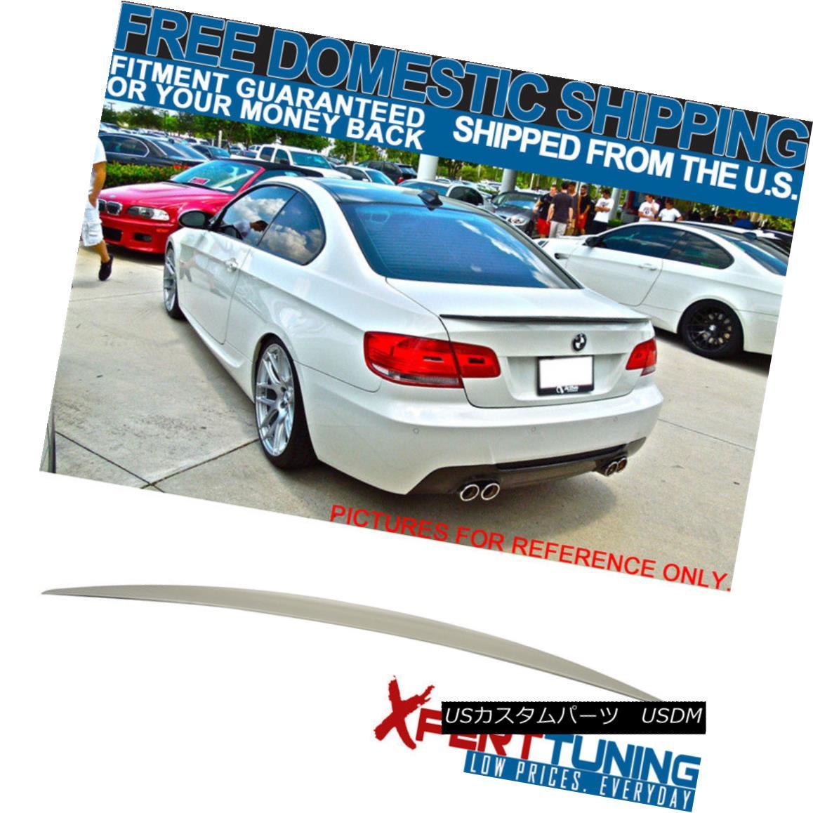 エアロパーツ 07-13 BMW 3-Series E92 Trunk 2Dr Performance Style Unpainted ABS Trunk Spoiler 07-13 BMW 3シリーズE92トランク2Drパフォーマンススタイル無塗装ABSトランク・スポイラー