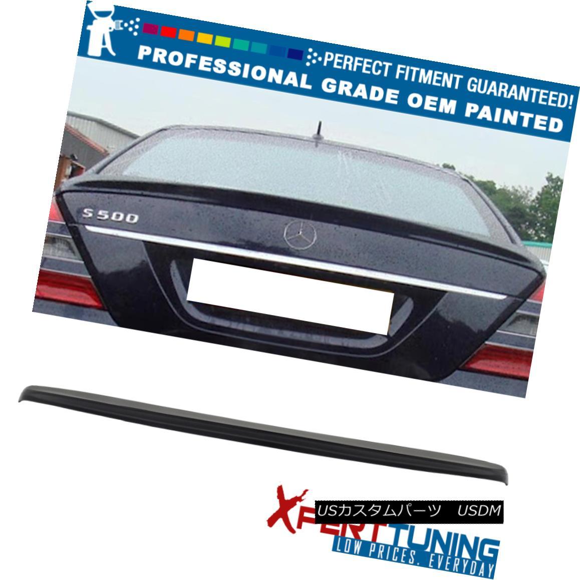 エアロパーツ 07-13 S-Class W221 4Dr Painted AMG Style Trunk Spoiler - OEM Painted Color 07-13 SクラスW221 4Dr塗装AMGスタイルトランク・スポイラー - OEM塗装カラー