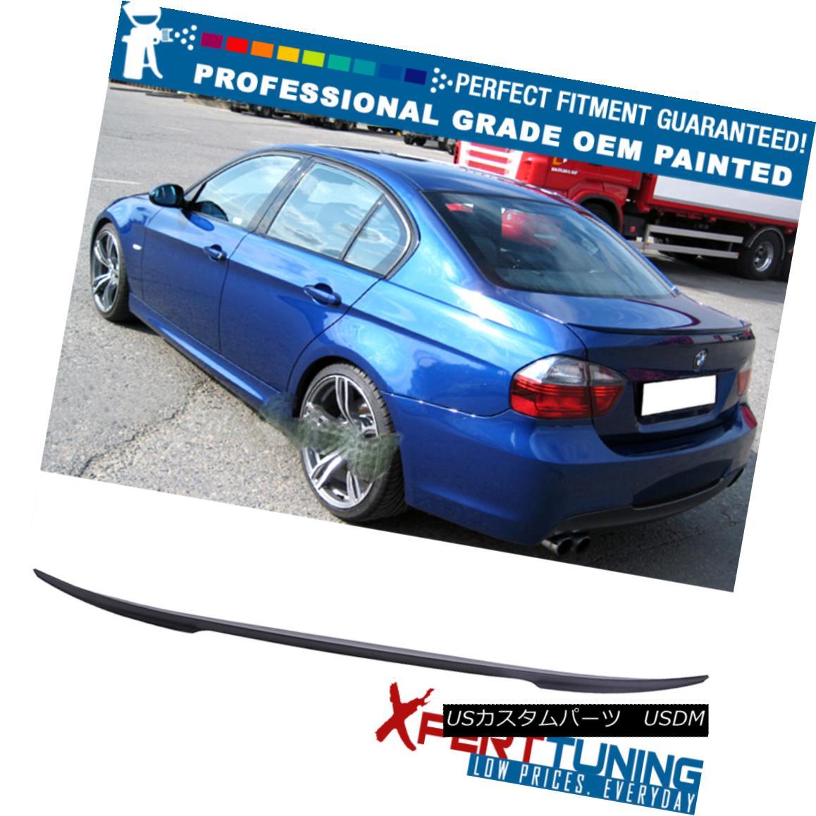 エアロパーツ 06-11 E90 Painted Performance 2 Style Trunk Spoiler - OEM Painted Color 06-11 E90塗装されたパフォーマンス2スタイルのトランク・スポイラー - OEM塗装カラー