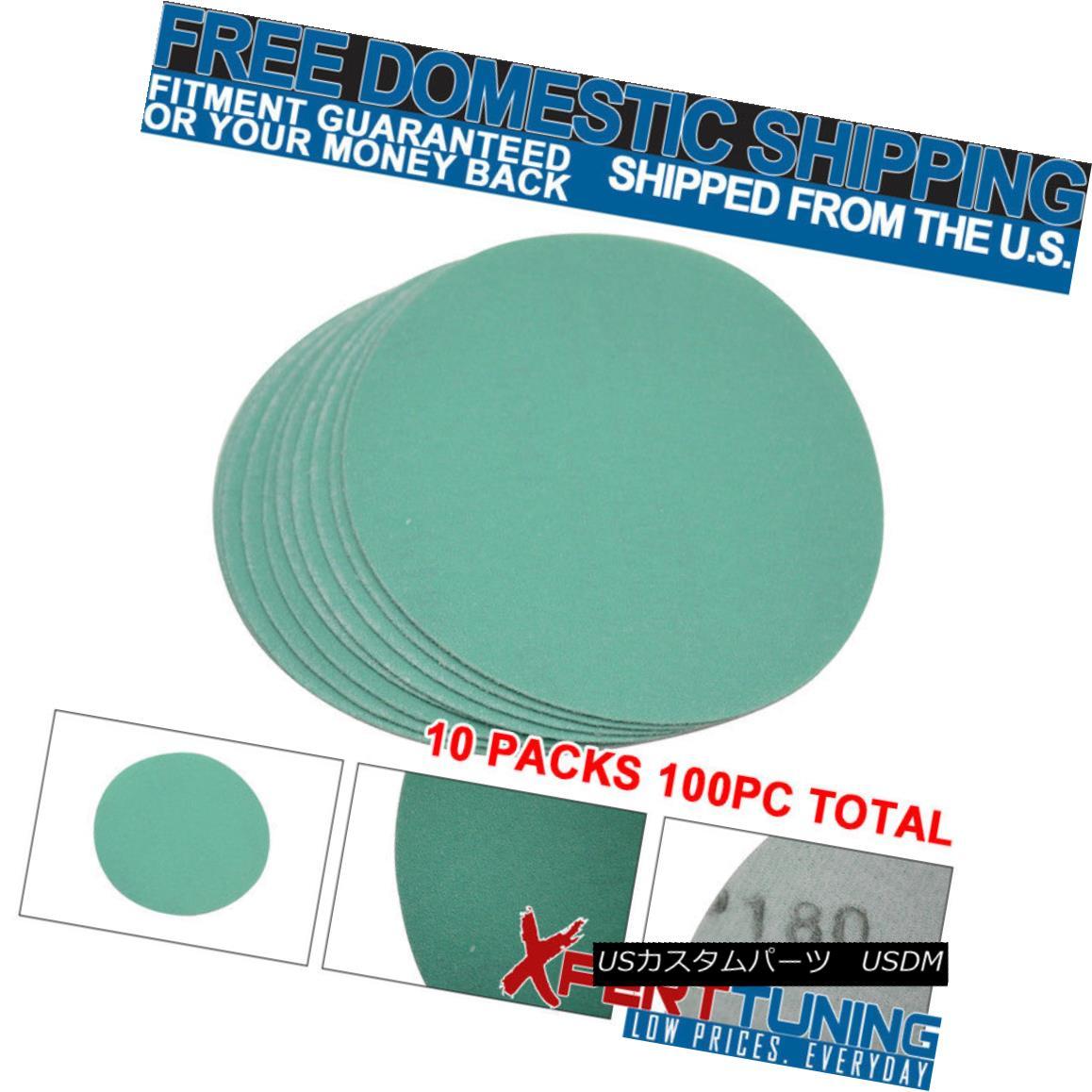 Sand Collision エアロパーツ Wet PCウェットドライボディキット衝突修復サンディングディスクサンドペーパー180グリット5インチ Grit Dry Bodykit Paper 180 Repair x100 Sanding Disc PC x100 Inch 5