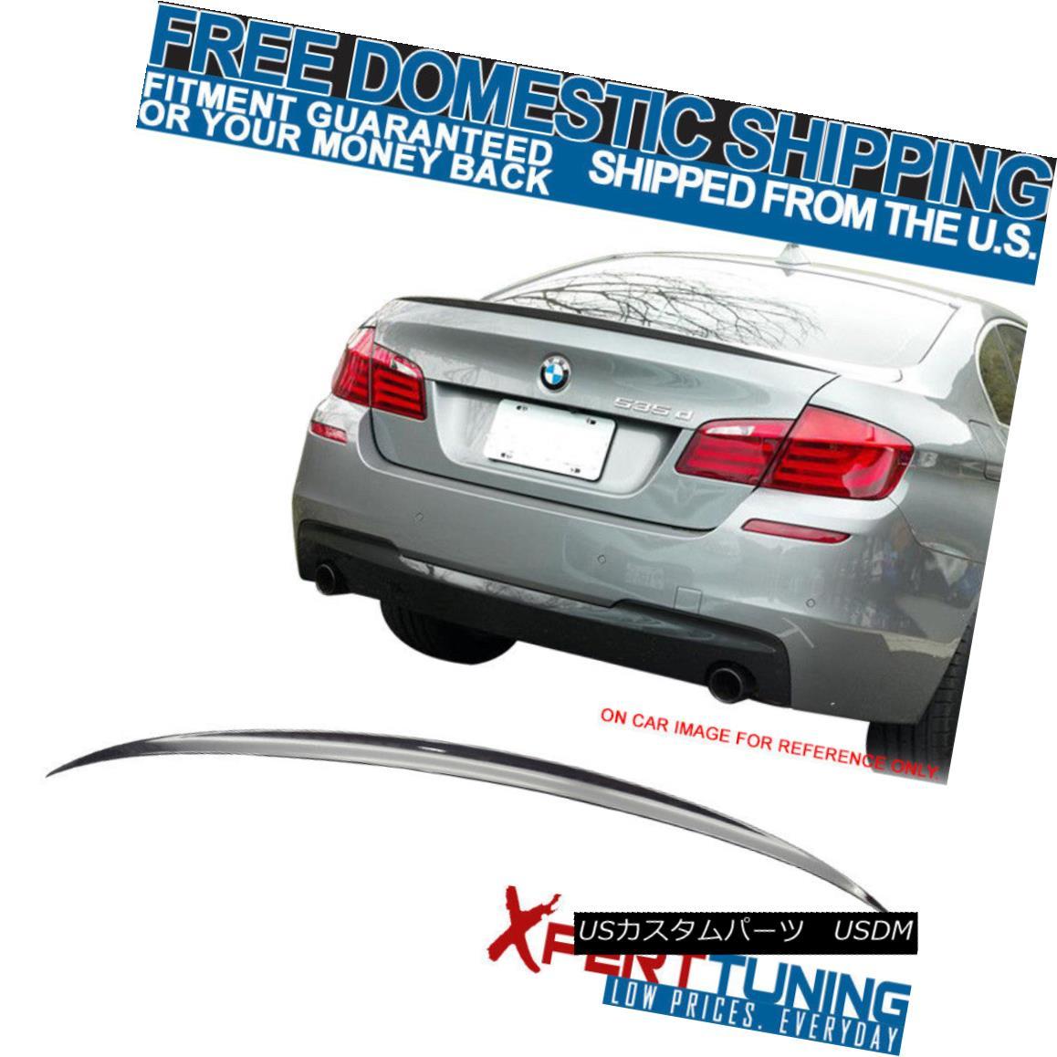 エアロパーツ Fit For 11-16 BMW 5-Series F10 4Dr M5 #668 Jet Black Painted Trunk Spoiler BMW 5シリーズF10 4Dr M5#668ジェットブラック塗装トランク・スポイラー