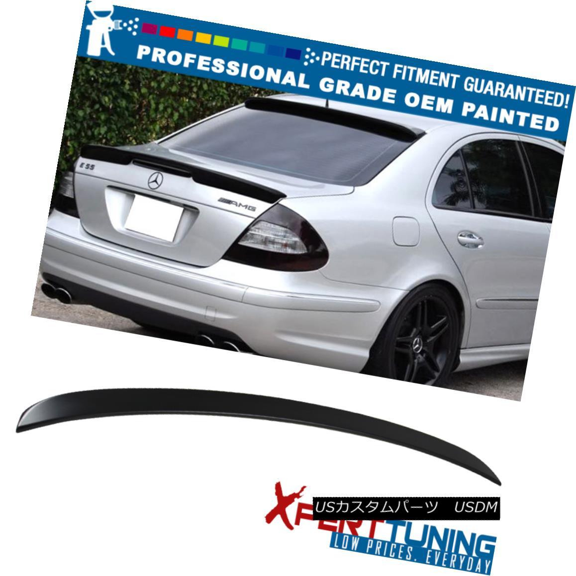 エアロパーツ 03-09 E-Class W211 4Dr L Style Painted ABS Trunk Spoiler - OEM Painted Color 03-09 EクラスW211 4Dr Lスタイル塗装ABSトランク・スポイラー - OEM塗装カラー