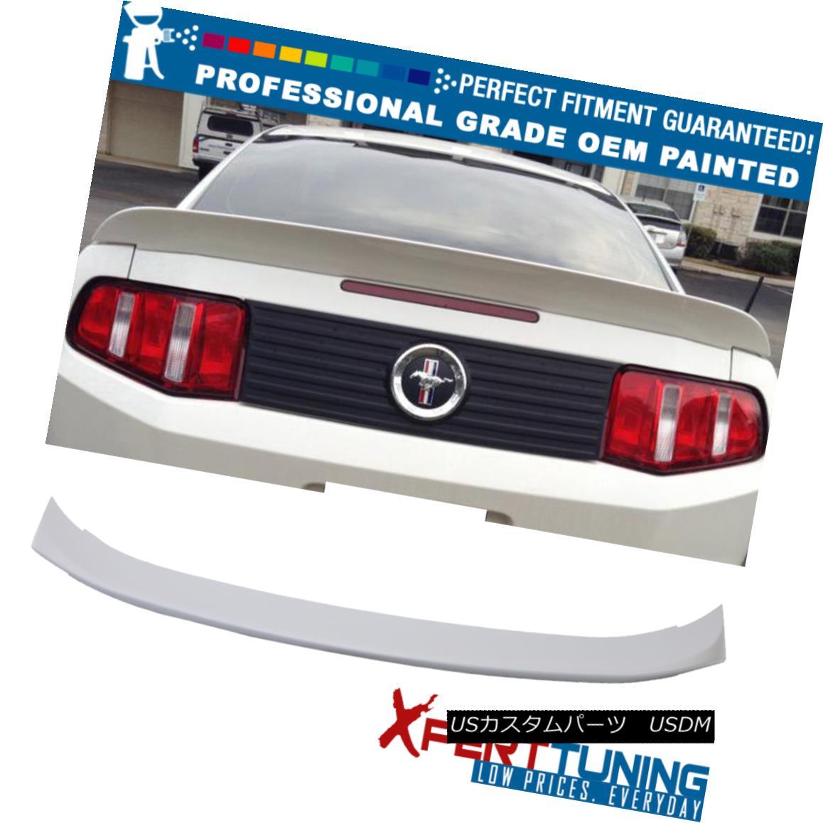 エアロパーツ 10-14 Ford Mustang D Style OEM Painted Color Trunk Spoiler - OEM Painted Color 10-14フォードマスタングDスタイルOEM塗装カラートランクスポイラー - OEM塗装カラー