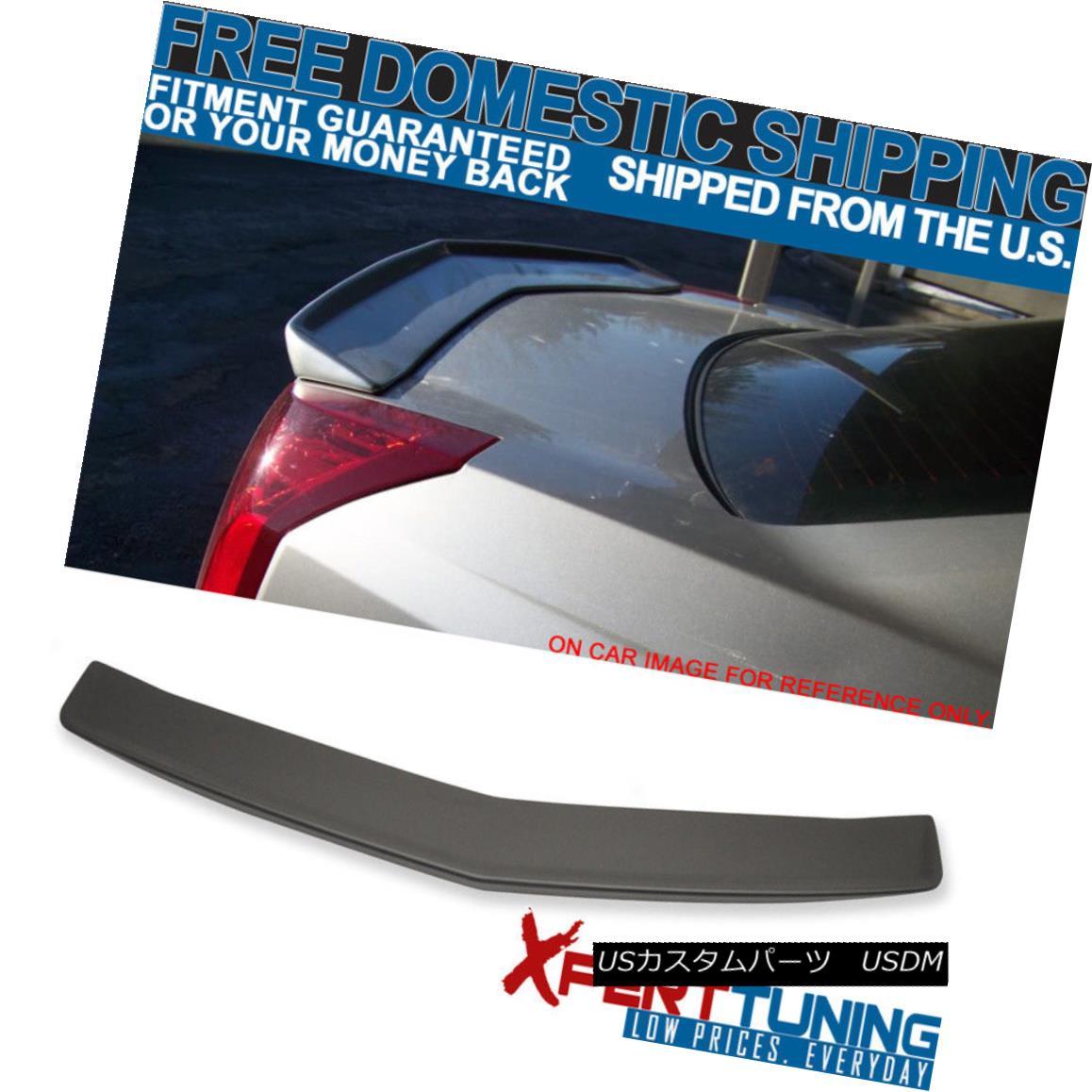エアロパーツ 03-07 Cadillac CTS 4Door Flush Mount OE Rear Trunk Spoiler Wing Matte Black ABS 03-07キャデラックCTS 4ドアフルーマウントOEリアトランクスポイラーウイングマットブラックABS