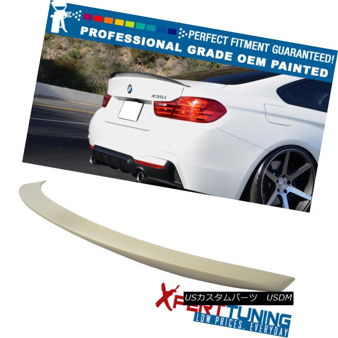 エアロパーツ 14-17 BMW 4 Series F32 2Dr Coupe Painted ABS Trunk Spoiler - OEM Painted Color 14-17 BMW 4シリーズF32 2Drクーペ塗装ABSトランク・スポイラー - OEM塗装色