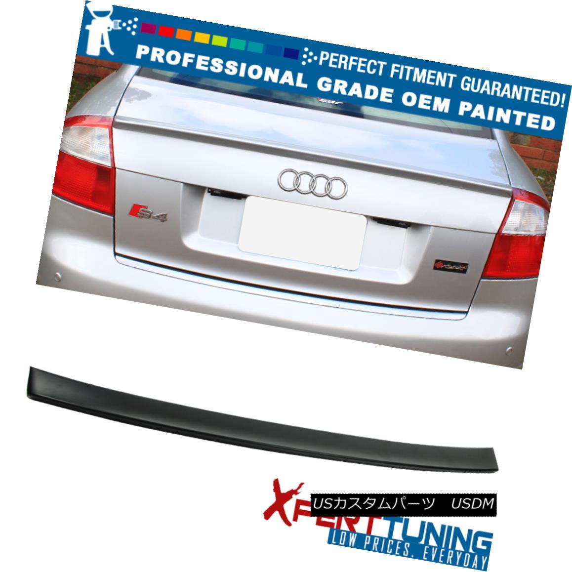 エアロパーツ 02-05 Audi A4 B6 4Dr Sedan A Style Painted Trunk Spoiler - OEM Painted Color 02-05 Audi A4 B6 4DrセダンAスタイル塗装トランク・スポイラー - OEM塗装カラー
