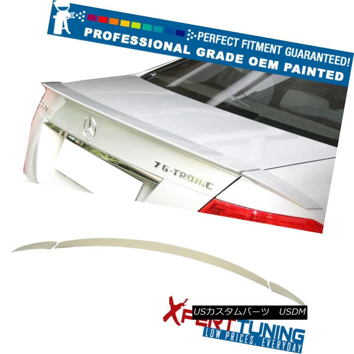 エアロパーツ 08-14 C-Class W204 B Style 4Dr Painted ABS Trunk Spoiler - OEM Painted Color 08-14 CクラスW204 Bスタイル4Dr塗装ABSトランク・スポイラー - OEM塗装カラー