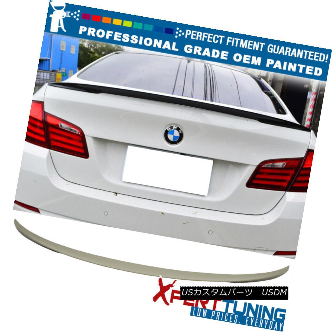 エアロパーツ 11-16 5-Series F10 4Dr P Style Painted ABS Trunk Spoiler - OEM Painted Color 11-16 5シリーズF10 4Dr Pスタイル塗装ABSトランク・スポイラー - OEM塗装カラー