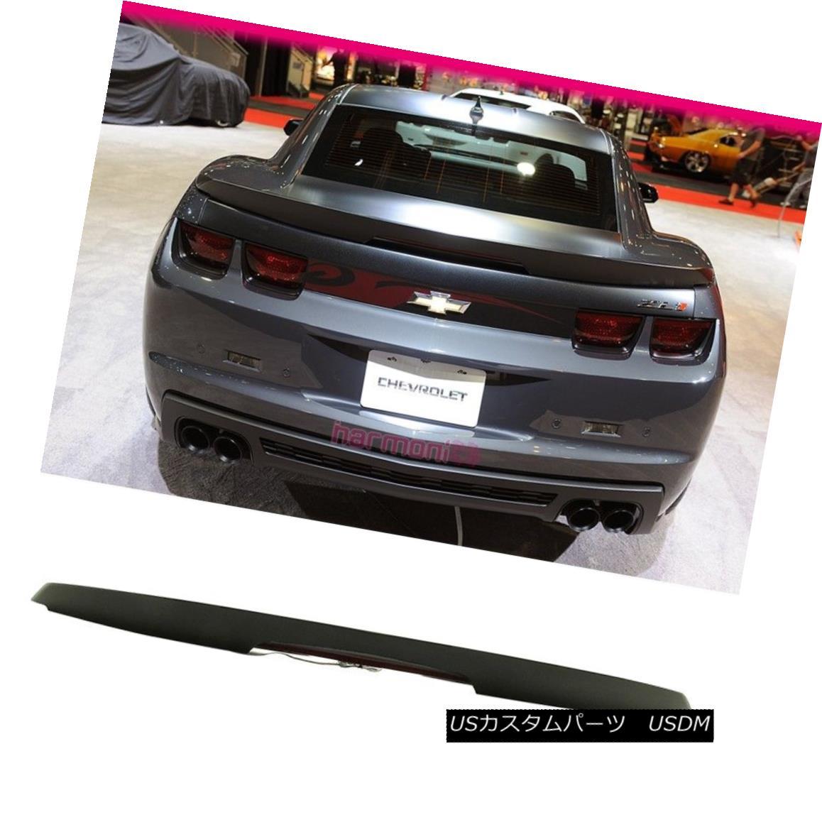エアロパーツ Fits 10-13 Chevrolet Camaro Trunk Spoiler Wing Painted Matte Black ABS ZL1 フィット10-13シボレーカマロトランクスポイラーウイング塗装マットブラックABS ZL1