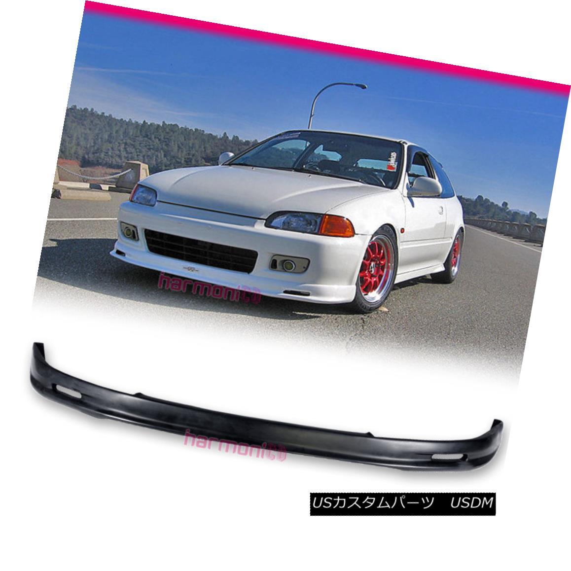 【国内即発送】 エアロパーツ Fits 92-95 Honda Civic EG DX LX EX Mugen Style Front Bumper Lip Spoiler Bodykit フィット92-95ホンダシビックEG DX LX EXミュゲンスタイルフロントバンパーリップスポイラーボディキット, 愛川町 9e178d8f