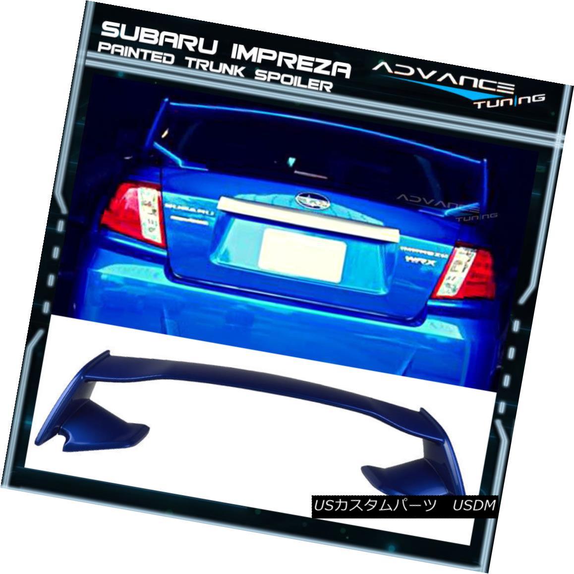 エアロパーツ For 08-14 WRX STI Trunk Spoiler OEM Painted Color #02C World Rally Blue Pearl 08-14 WRX STIトランク・スポイラーOEM塗装カラー#02C World Rally Blue Pearl