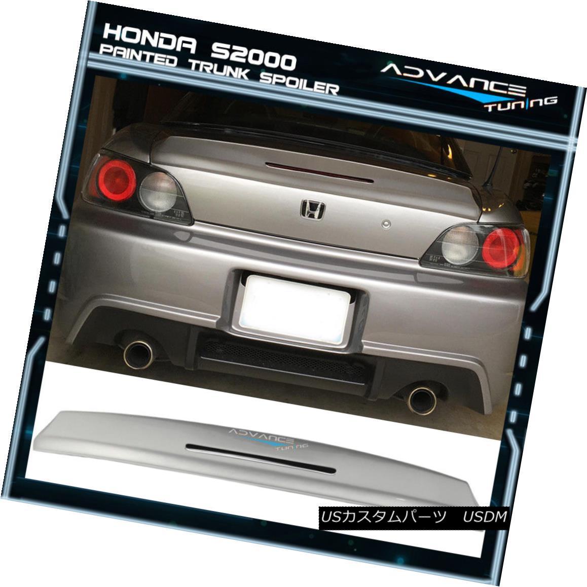 エアロパーツ 00-09 S2000 AP1 AP2 TM OEM Painted Trunk Spoiler #NH552M Sebring Silver Metallic 00-09 S2000 AP1 AP2 TM OEM塗装トランク・スポイラー#NH552Mセブリングシルバー・メタリック
