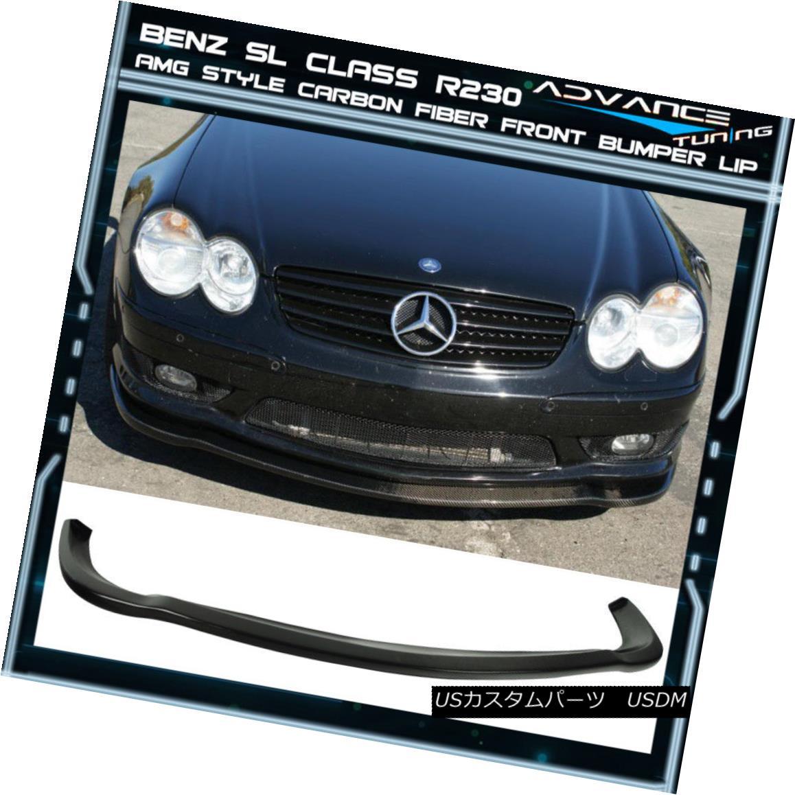 最新の激安 エアロパーツ 03-06 Benz Fiber SL Class R230 Benz AMG Style 03-06ベンツSLクラスR230 Front Bumper Lip Carbon Fiber CF 03-06ベンツSLクラスR230 AMGスタイルフロントバンパーリップカーボンファイバーCF, pipi:adb93f6a --- promotime.lt