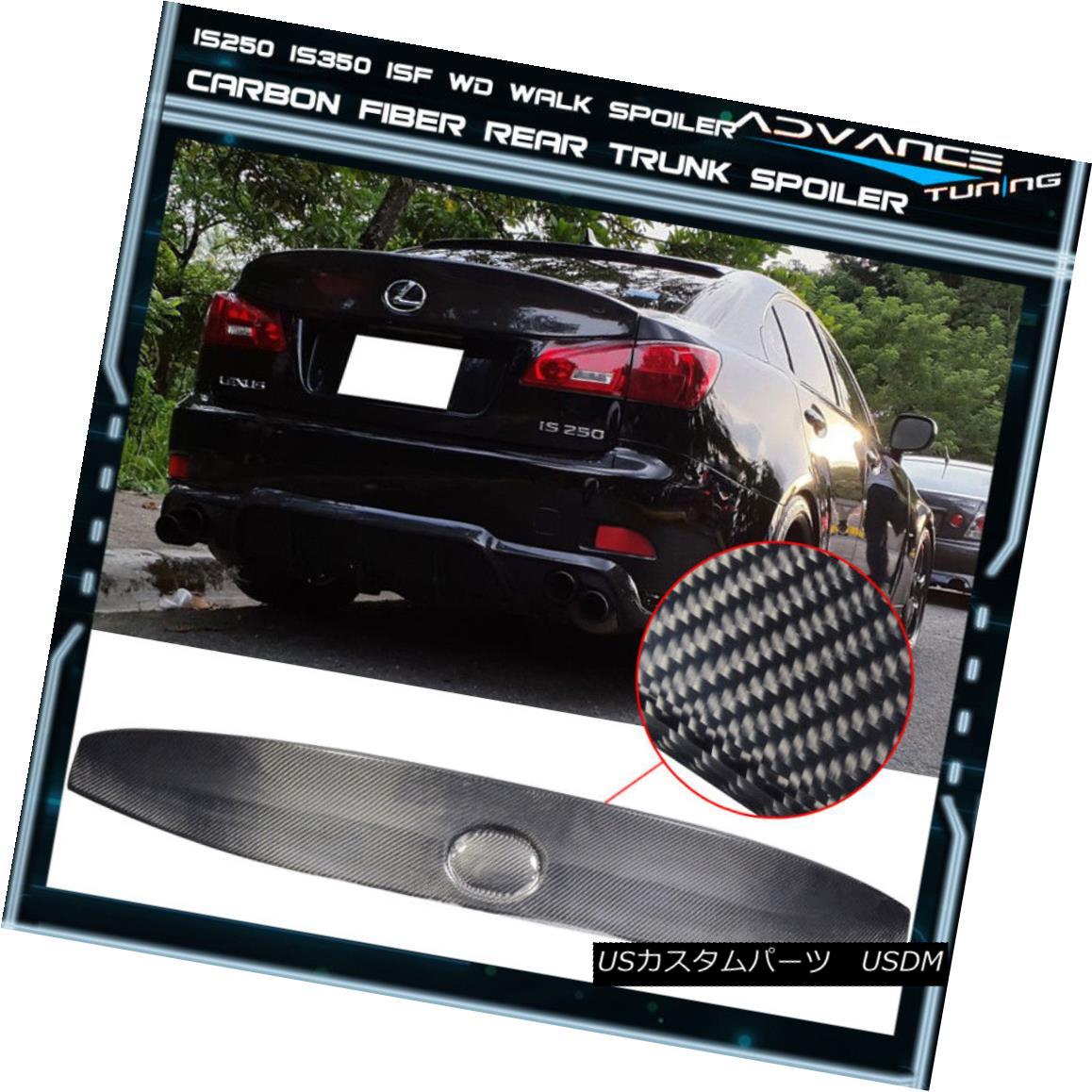 エアロパーツ Fits 06-13 Lexus IS250 IS350 ISF Carbon Fiber IK Style Rear Trunk Spoiler Wing フィット06-13レクサスIS250 IS350 ISFカーボンファイバーIKスタイルリアトランクスポイラーウイング