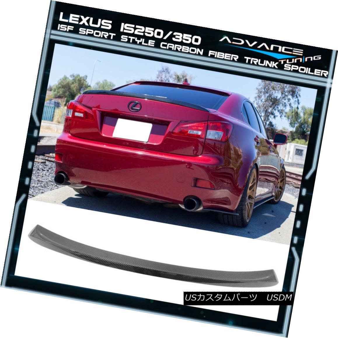エアロパーツ Fits 06-13 Lexus Is250 350 ISF Sport Style Carbon Fiber CF Trunk Spoiler フィット06-13レクサスIs250 350 ISFスポーツスタイルカーボンファイバーCFトランクスポイラー
