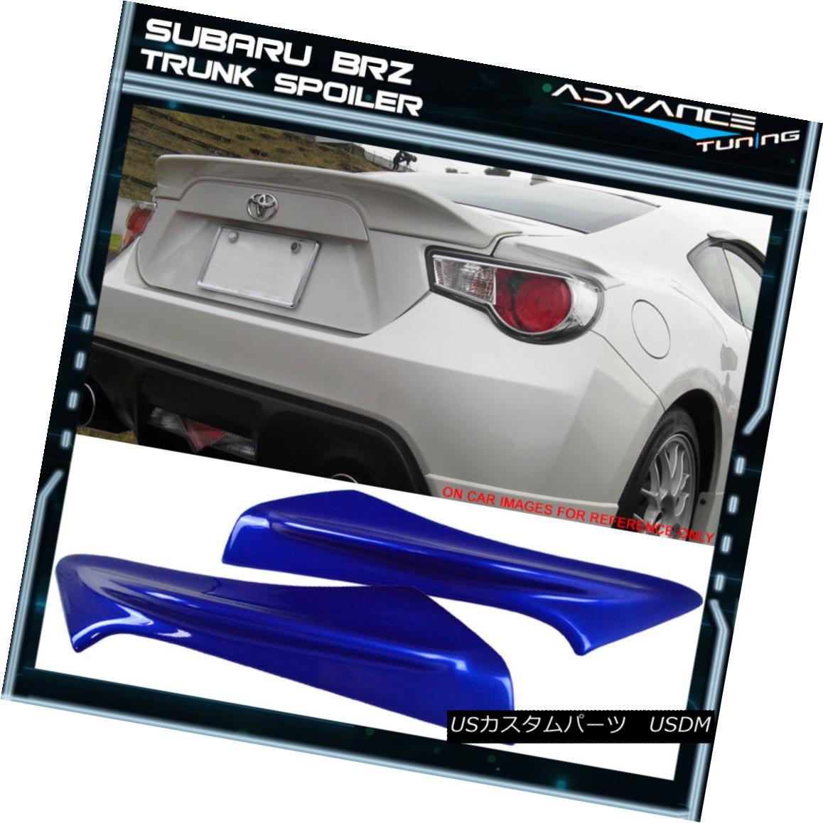 エアロパーツ Fit 13-17 Scion FR-S Subaru BRZ TR-D Trunk Spoiler Painted #K7X Wr Blue Pearl フィット13-17サイオンFR-SスバルBRZ TR-Dトランクスポイラー#K7X Wrブルーパール