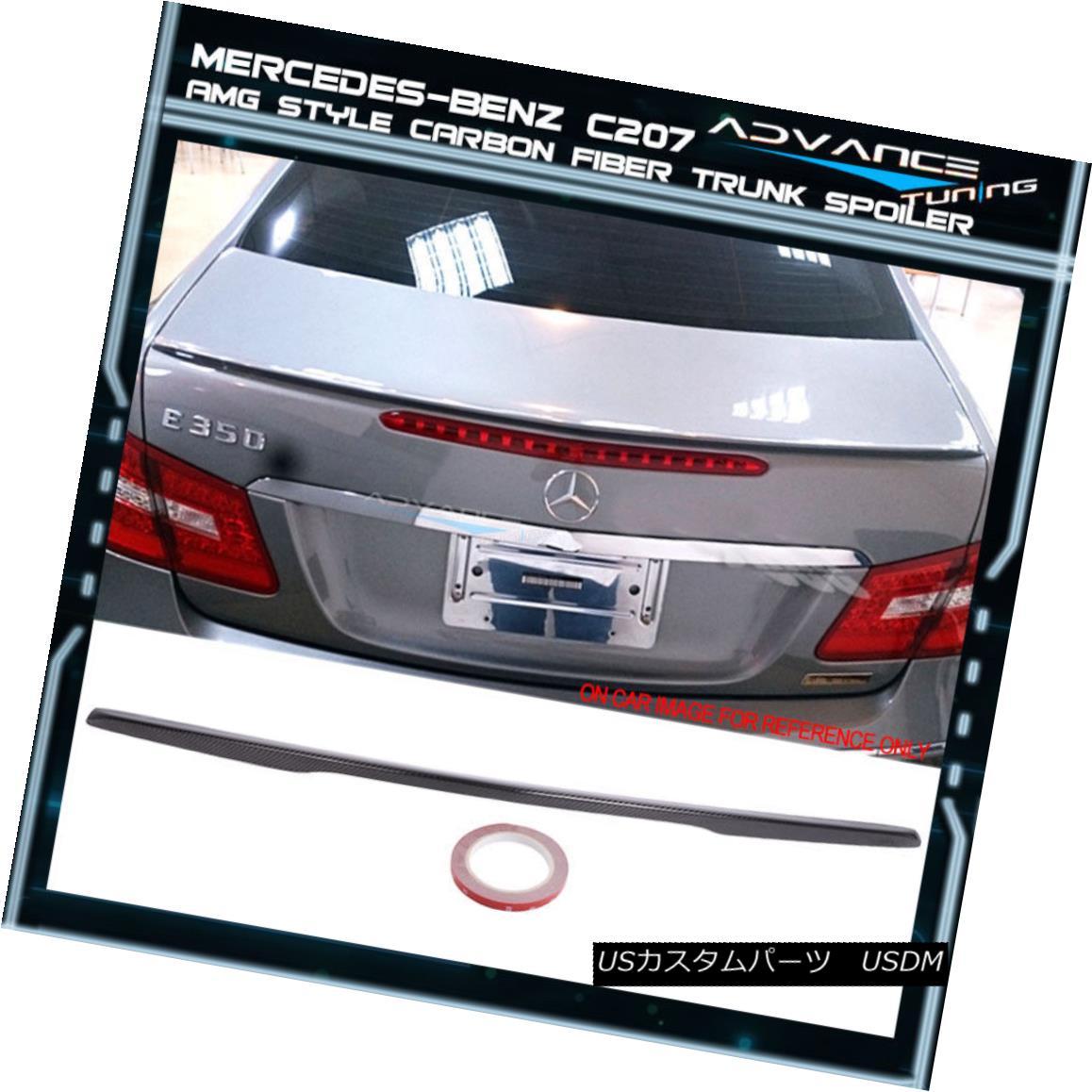 エアロパーツ 10-17 Benz C207 W207 E-class 2Dr Coupe AMG Style Carbon Fiber Trunk Spoiler (CF) 10-17ベンツC207 W207 Eクラス2DrクーペAMGスタイル炭素繊維トランク・スポイラー(CF)