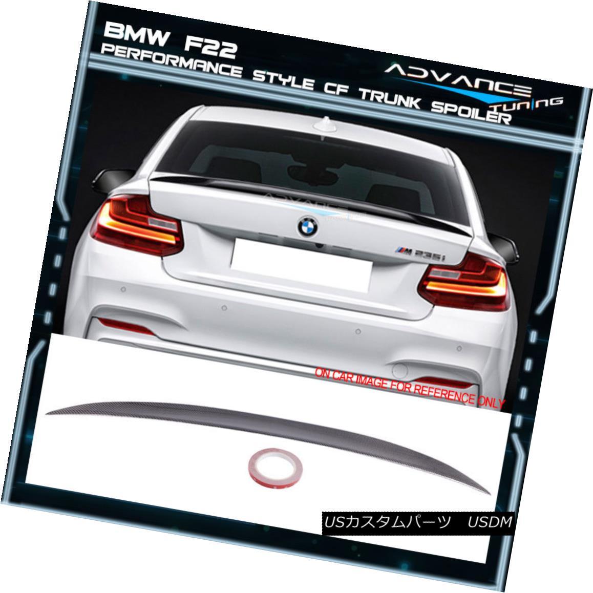 エアロパーツ 14-18 BMW F22 2 Series 2Dr P Style Trunk Spoiler Carbon Fiber (CF) 14-18 BMW F22 2シリーズ2Dr Pスタイルトランクスポイラーカーボンファイバー(CF)
