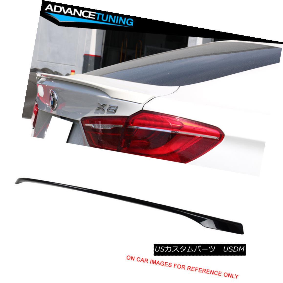 エアロパーツ Fit 16-17 X6 F16 Performance Trunk Spoiler OEM Painted 416 Carbon Black Metallic フィット16-17 X6 F16パフォーマンストランクスポイラーOEM塗装416カーボンブラックメタリック